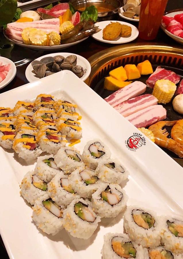 Sushi and hot pot