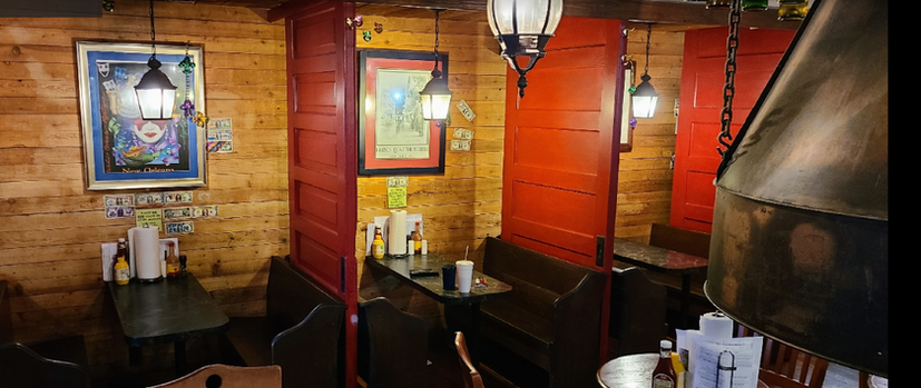 Inside seating for our restaurant