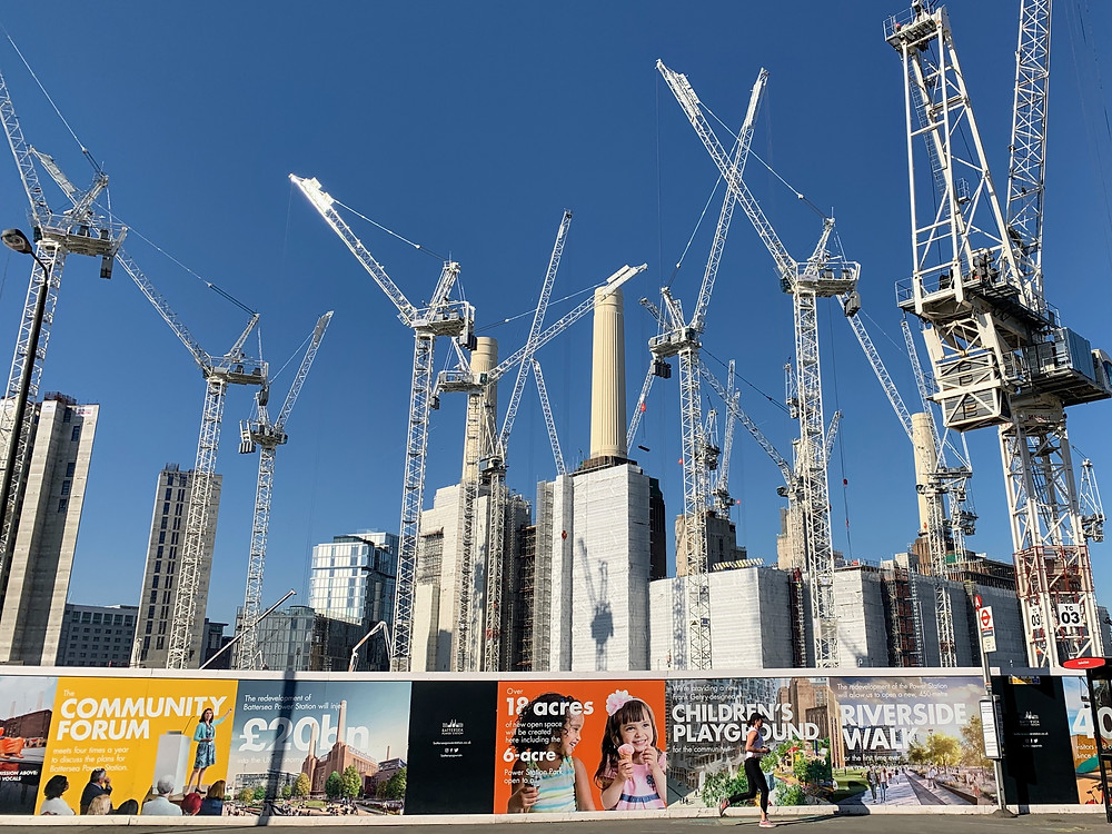 This is an image of construction cranes.