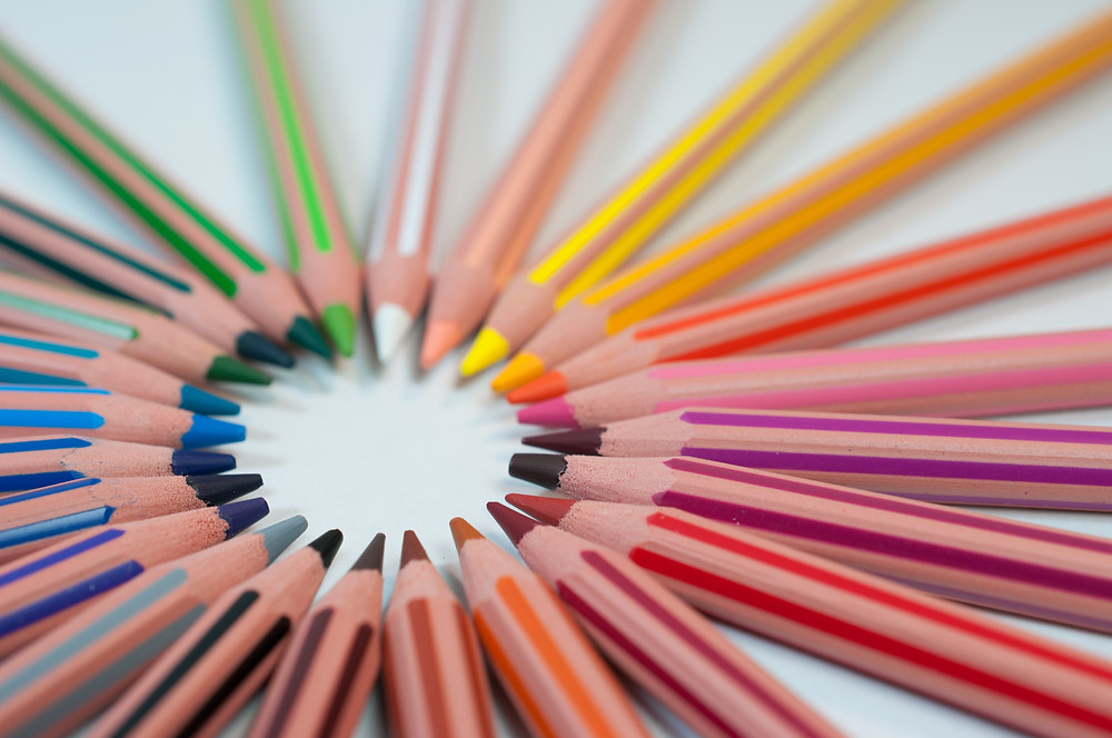 This is an image of colored pencils.
