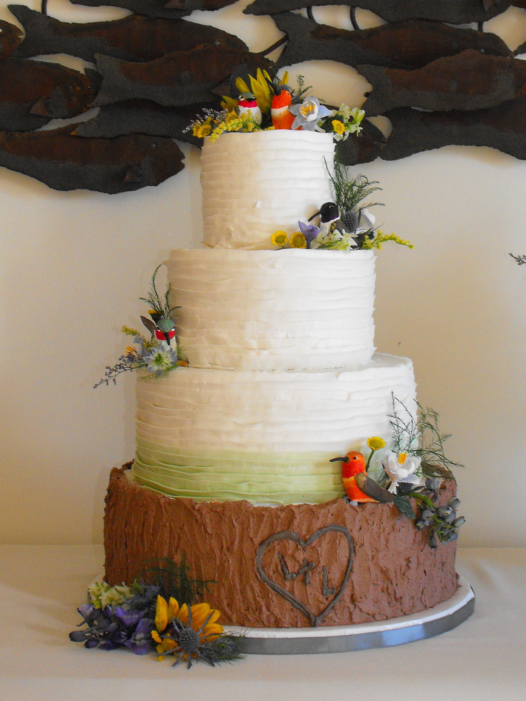 wedding cakes grand junction colorado kelley kakes buttercream ombre ruffles 24445