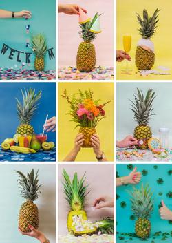 Ananas kaartenserie