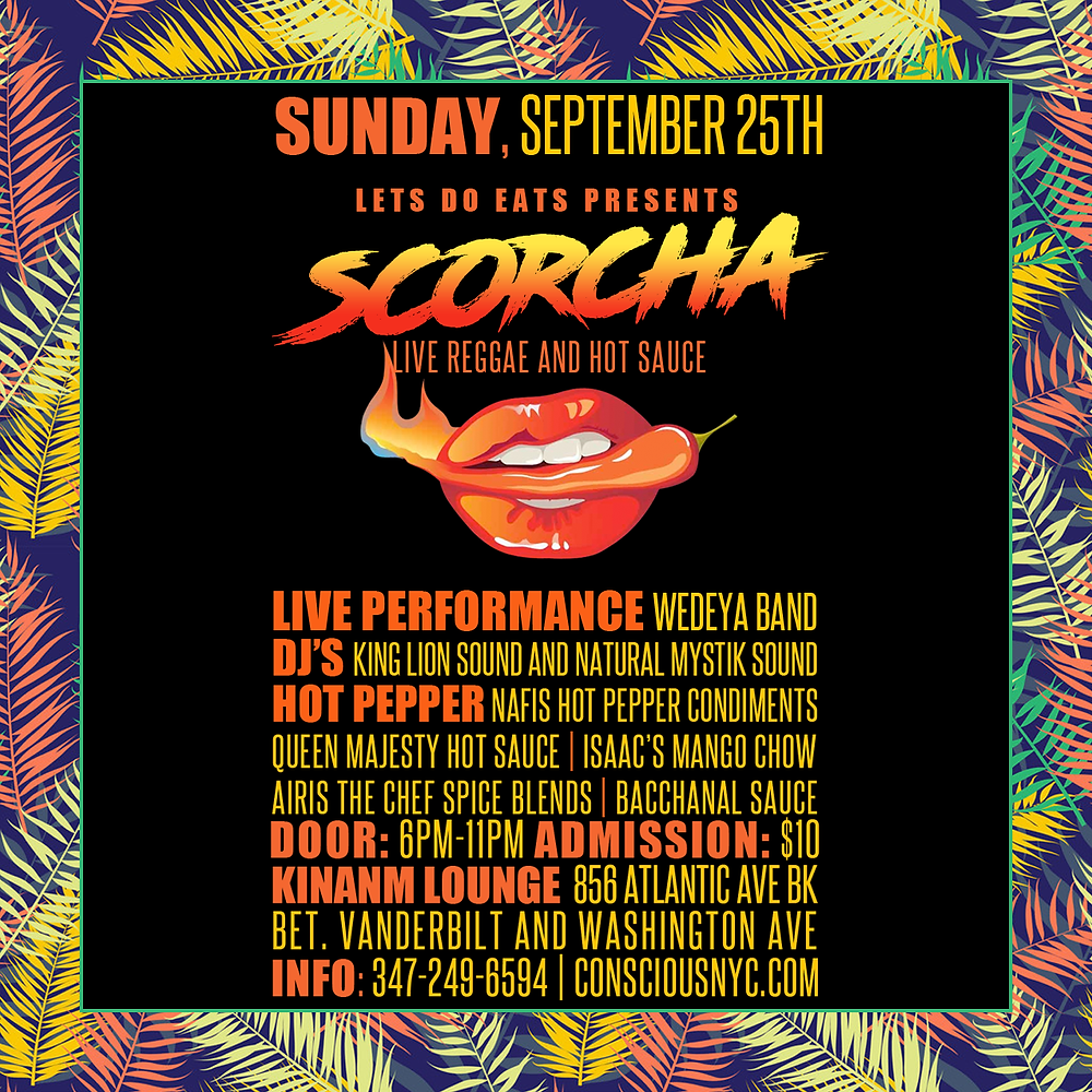 scorcha live reggae and hot pepper sauce