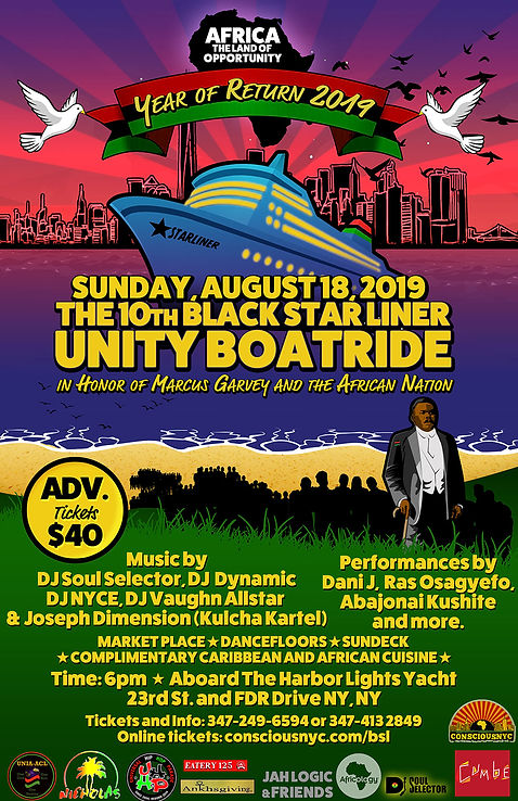 Black Star Liner Boat Ride celebrates pan african culture in the heart of NYC