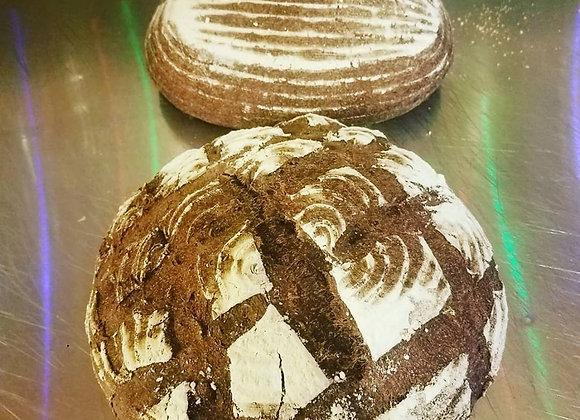 Marble Rye Sourdough Bread