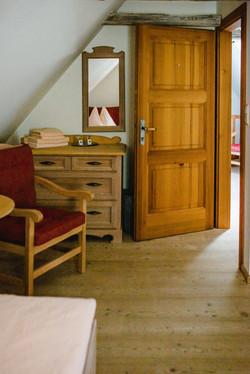 Zimmer 6  - Blick vom Bett