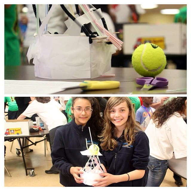 Happy to support #STARBASE at their first annual #STEM Olympiad!! Wind towers winners right here! #g