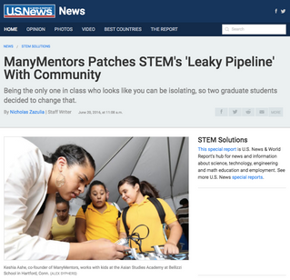 ManyMentors Featured in U.S. News & World Report!