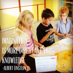 #Einstein said it well-- imagination and creativity is the foundation of innovations in #STEM! #Many
