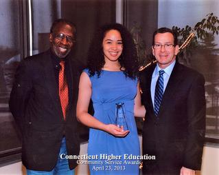 Connecticut Higher Education Community Service Award!