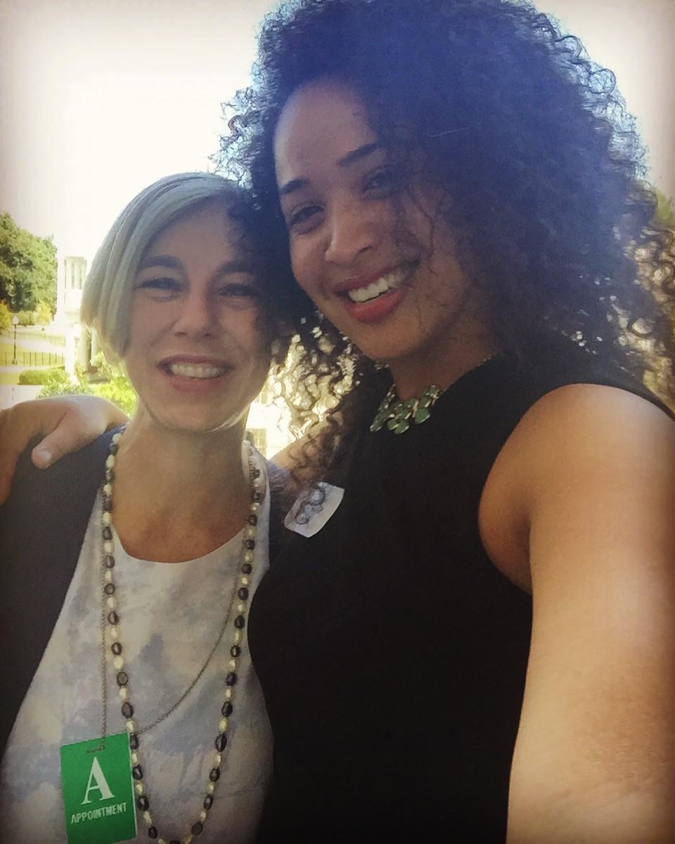 Left: Mary Fernandez, MentorNet President; Right: Keshia Ashe, ManyMentors CEO