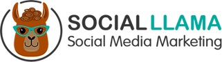 Social Llama Logo Color White Background