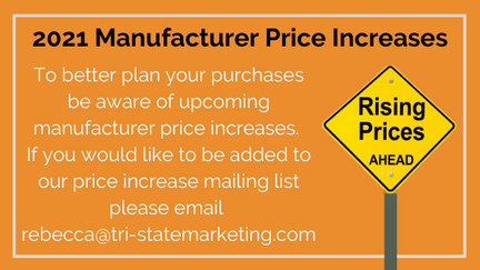 2021 Manufacturer Price Increases