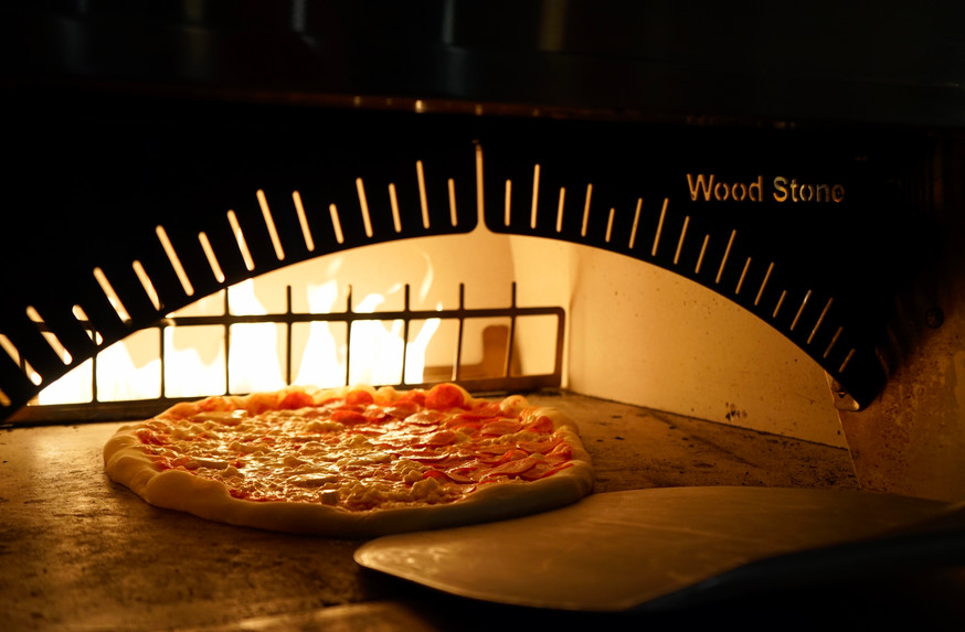 Cheese Pizza in Wood Stone Oven