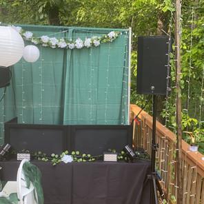 Air BnB Wedding Reception