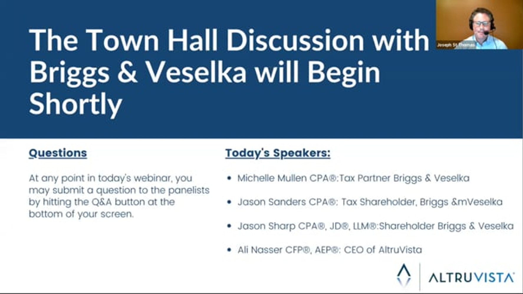 Key Business & Tax Considerations with Briggs and Veselka