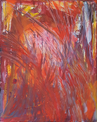 abstract painting woman artist