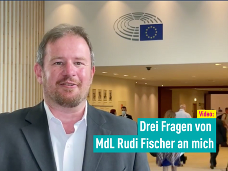 Video: Drei Fragen von MdL Rudi Fischer an mich