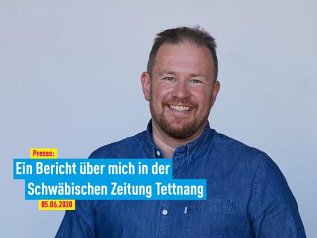 Presse: Ein Bericht über mich in der Schwäbischen Zeitung Tettnang
