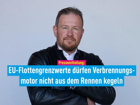 Pressemitteilung: EU-Flottengrenzwerte dürfen Verbrennungsmotor nicht aus dem Rennen kegeln