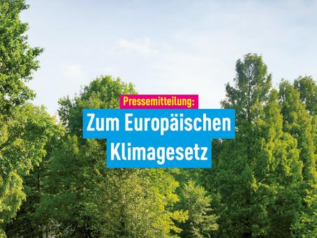 Pressemitteilung: Zum Europäischen Klimagesetz