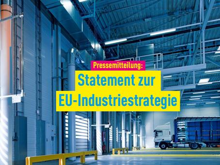 Pressemitteilung: Statement zur EU-Industriestrategie