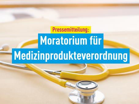 Pressemitteilung: Moratorium für Medizinprodukteverordnung