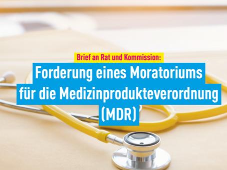 Brief an Rat und Kommission: Forderung eines Moratoriums für die Medizinprodukteverordnung (MDR)