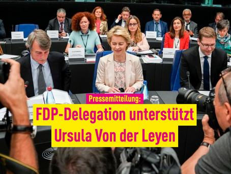 Pressemitteilung: FDP-Delegation unterstützt Ursula von der Leyen