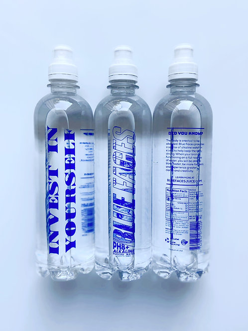Blue Faces Alkaline Water