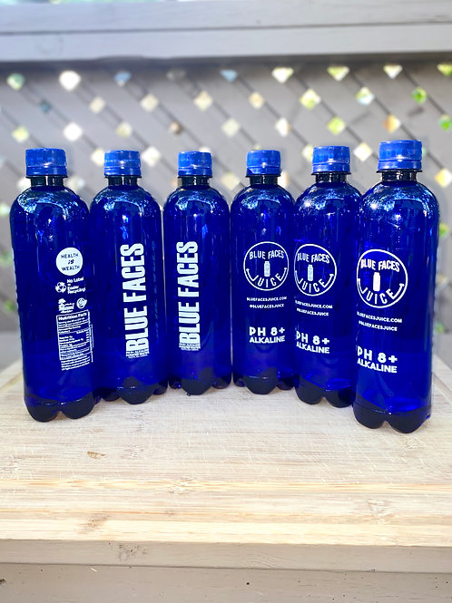 Blue Faces Alkaline Water