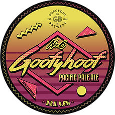 Goofyhoof, Pacific Pale Ale beer label by Gorgeous brewery