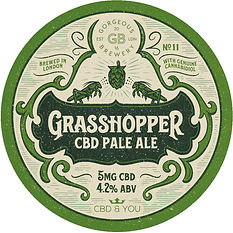Grasshopper_Circle_Keg_badge 82mm_diamet