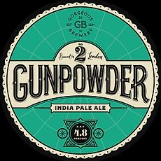 Gunpowder, IPA beer label by Gorgeous brewery