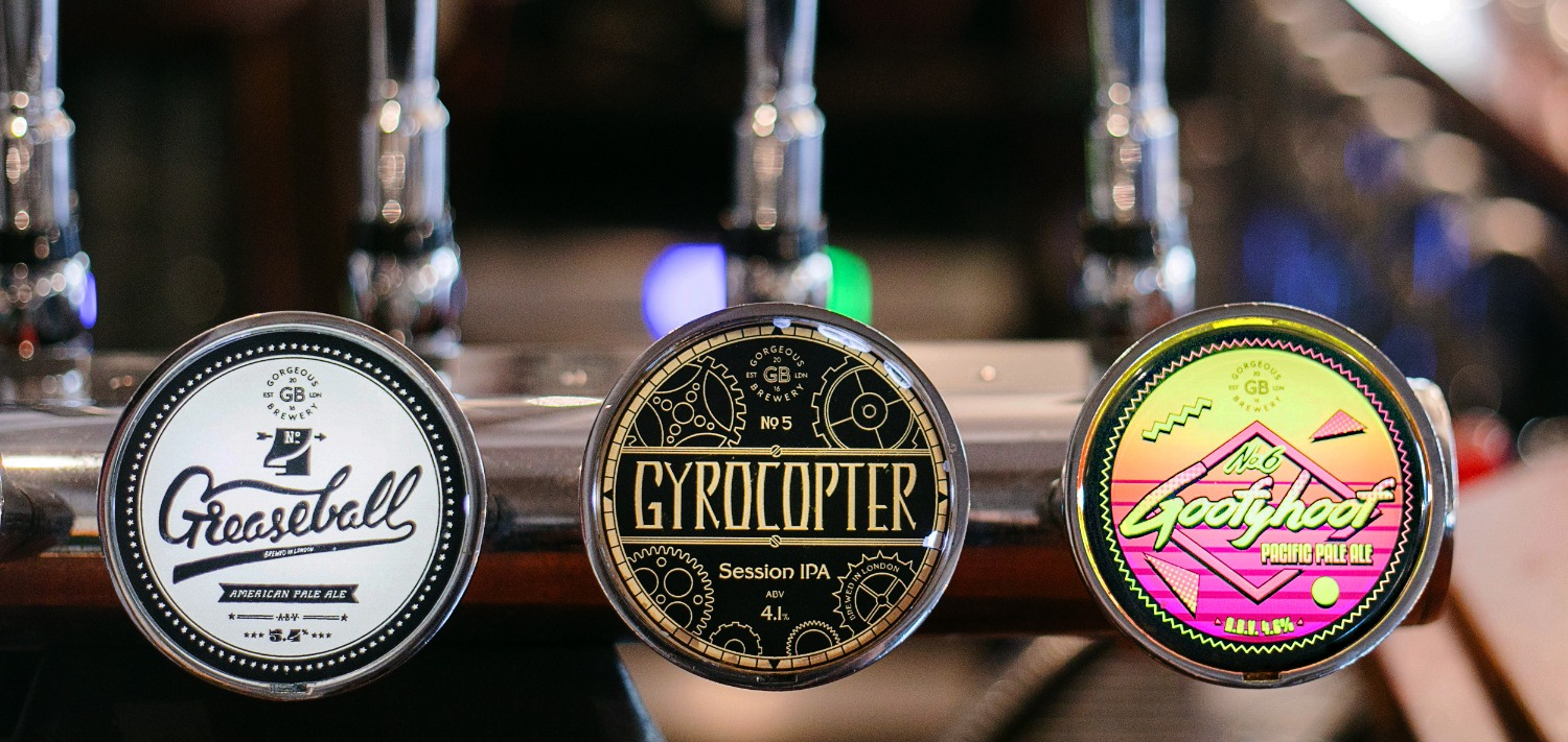 Gorgeous Brewery pump clips
