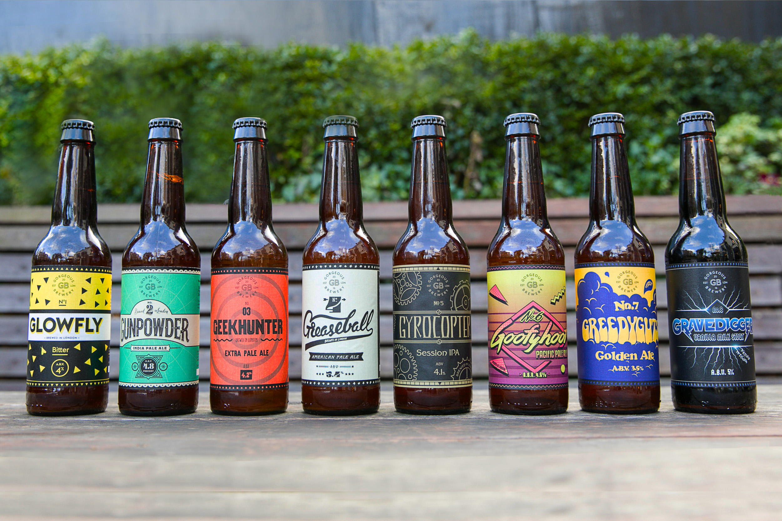 Gorgeous Brewery Bottles