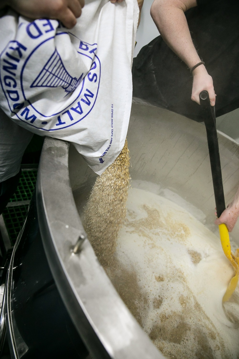 Gorgeous Brewery mashing in