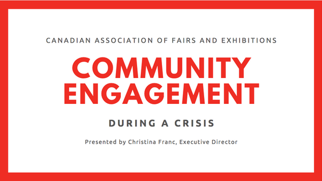Community engagement during a crisis (April 29)