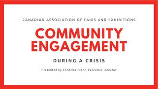 Community engagement during a crisis (April 29)