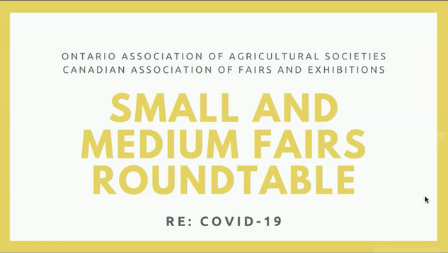 Small & Medium Fairs Roundtable (May 6, 2020)