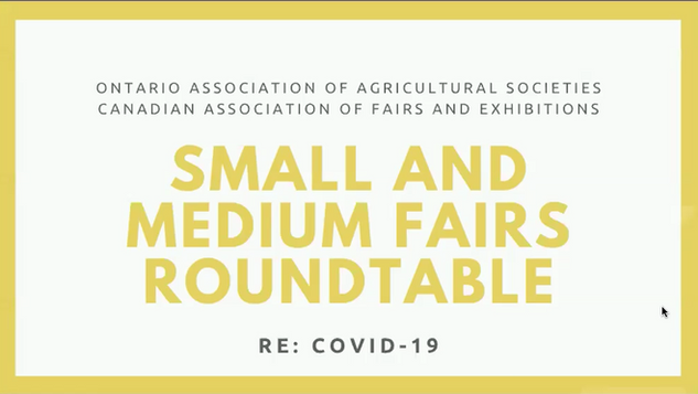Small & Medium Fairs Roundtable (May 6, 2020)