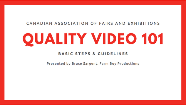 Quality Video 101 (May 27, 2020)