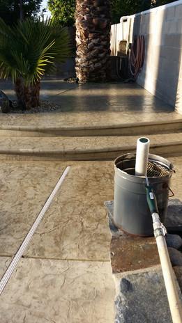 Custom Epoxy Finish on Concrete