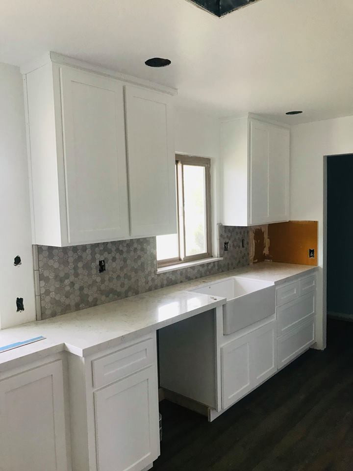 After Picture Of White Paint Color Kitchen Cabinets