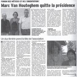 Le départ de Marc Vanhoutghem