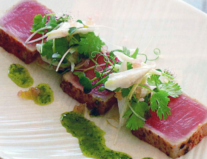 Seared sashimi tuna
