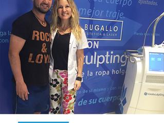 La Dra. Bugallo junto a ArielZárate(#Futbolista), Tratamiento con Coolsculpting