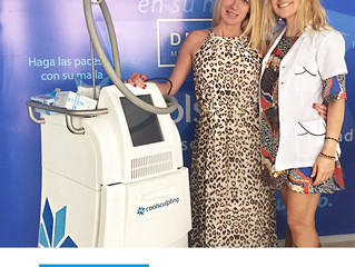 La Dra. Bugallo Junto a Carolina Nuin, Tratamiento con Coolsculpting