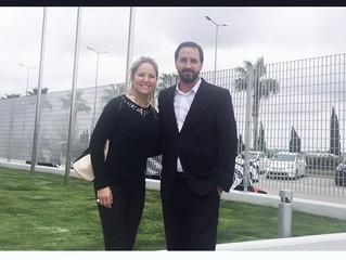 """Dra. Bugallo visito la planta de Producción de la empresa de productos cosméticos """"Mesoestetic&"""