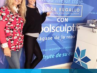 DraBugallo Junto a Natalie Weber  -  Tratamiento con Coolsculpting